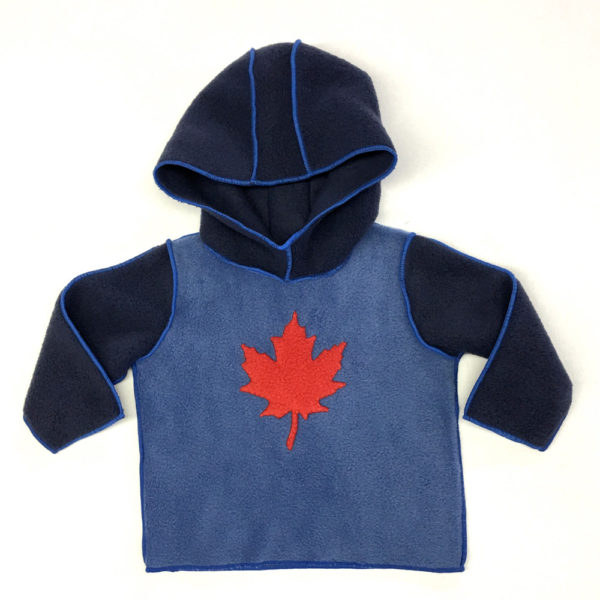 Hoodie sweater with maple leaf